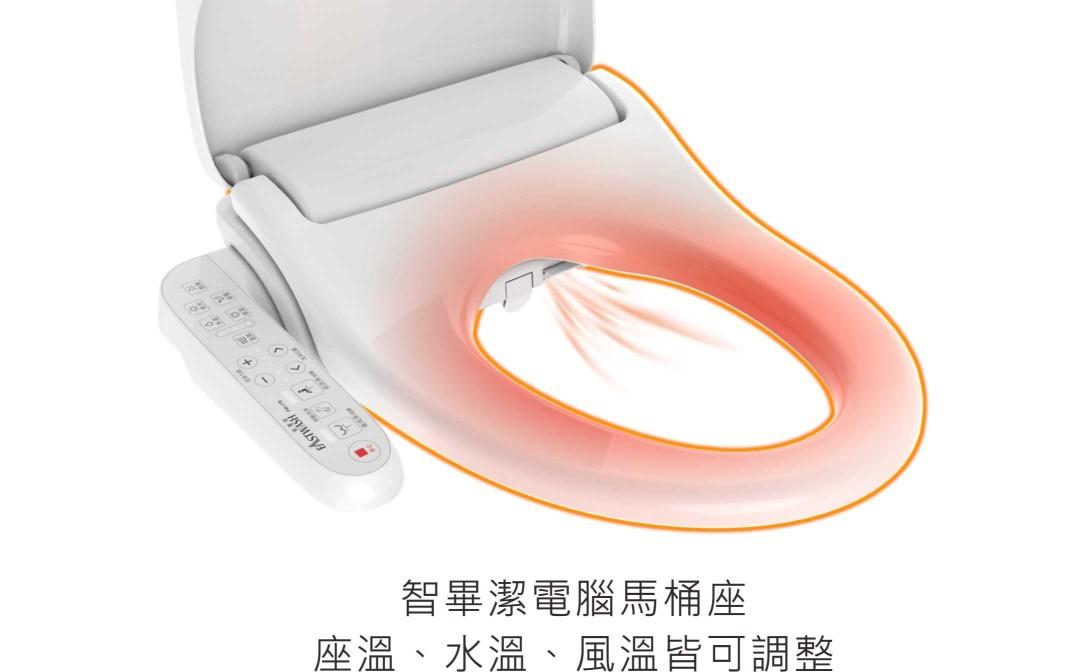 智畢潔電腦馬桶座讓屁屁不會忽冷忽熱,怎麼坐、怎麼沖洗都暖心、安心又乾淨。