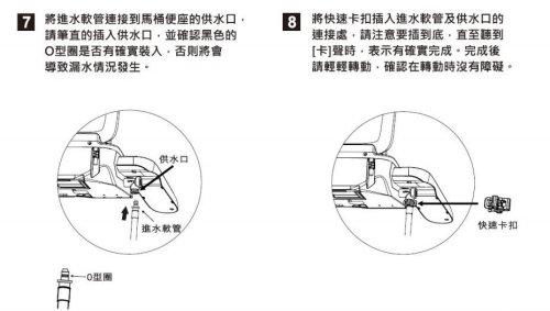 智畢潔電腦馬桶座_裝O型環步驟